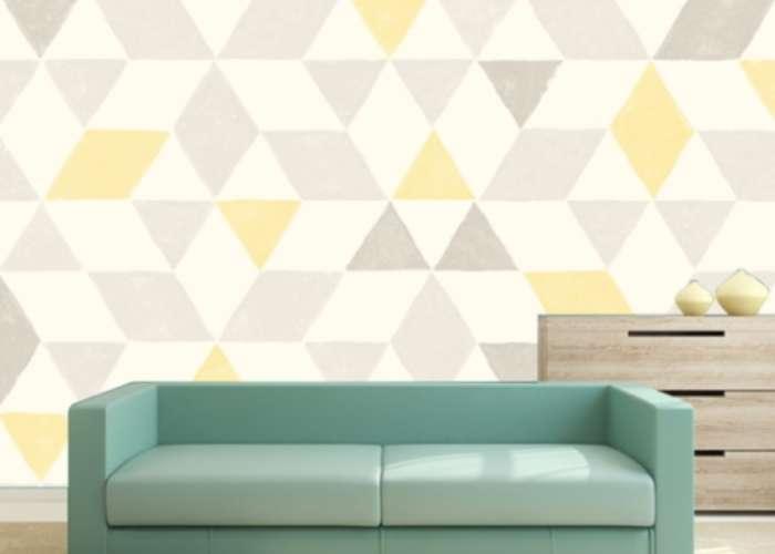 adesivo de parede abstrato